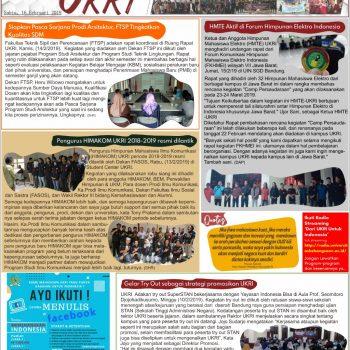 Kabar UKRI edisi 16 Februari 2019